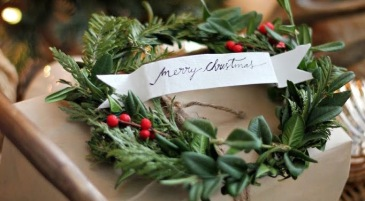 Christmashousetourgiftwrapcloseupcraftberrybush1